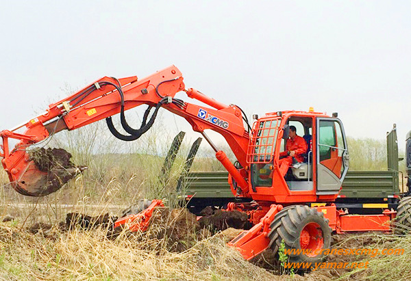 ET111 walking excavator