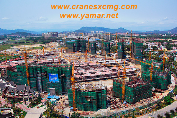 XCMG tower cranes working in Hainan