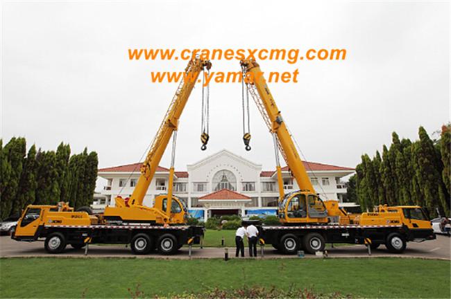 XCMG export truck crane, crawler crane to Qatar