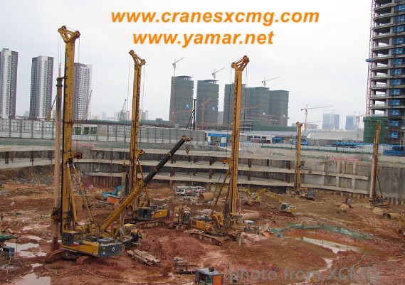 XCMG rotary drilling rigs building subway