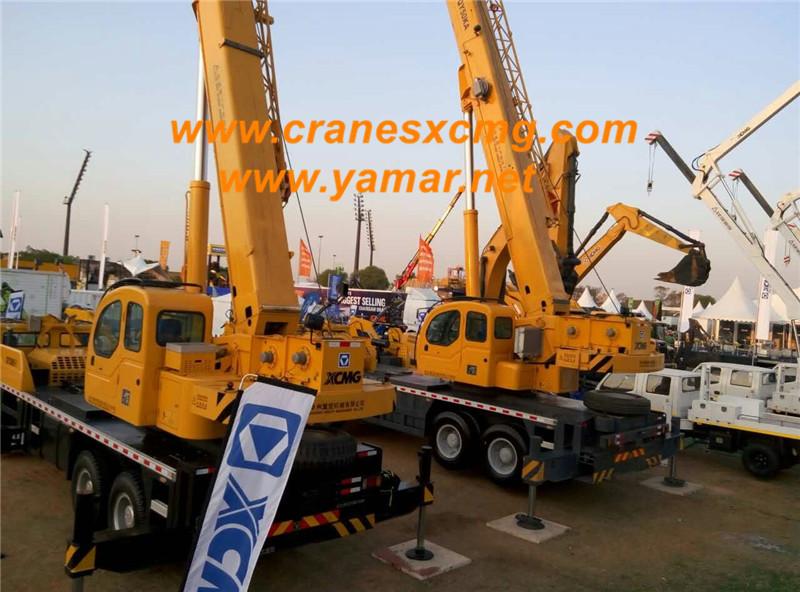 xcmg qy50ka truck crane in bauma africa