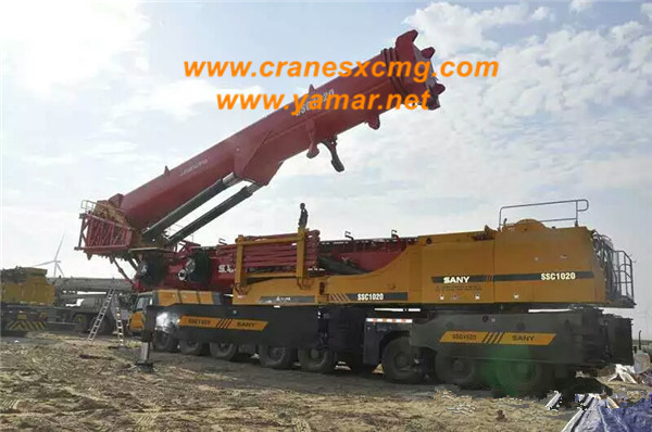 SANY SCC1020 truck crane special for wind power station-2