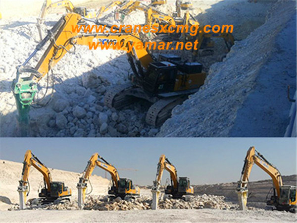 Hundreds of XCMG excavators working together in Middle East