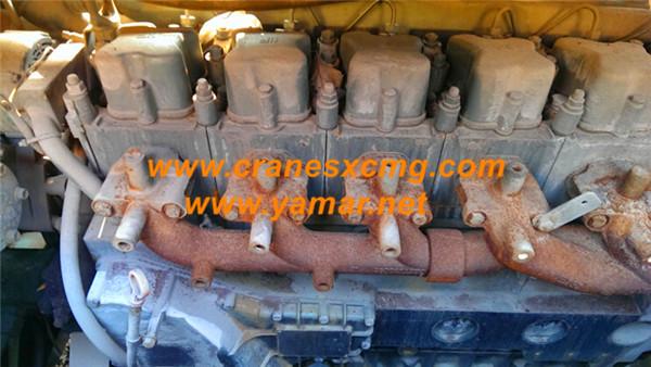 XCMG 65 ton used truck crane QY65K engine