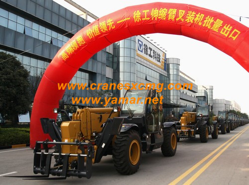 XCMG 17m telescopic forklift export (1)