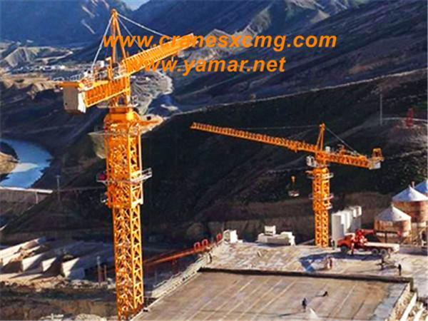 XCMG tower crane build bridge in Iran