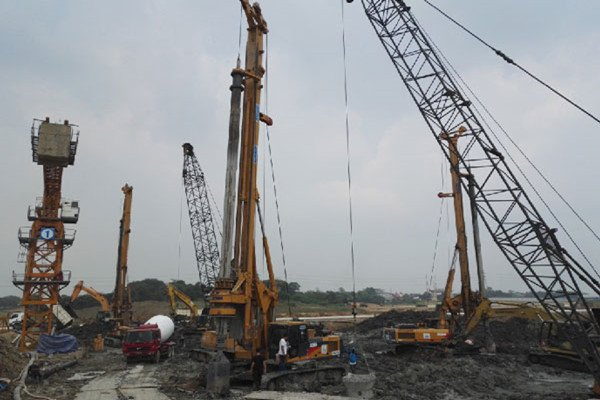 XCMG rotary drilling rig help to build constructions in Indonesia