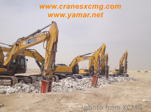 XCMG crawler excavator in Middle East