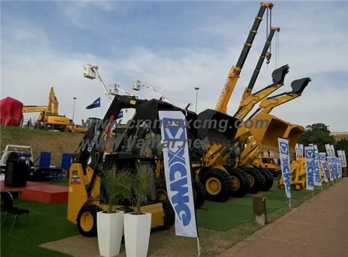 XCMG construction machinery in Bauma Conexpo South Africa