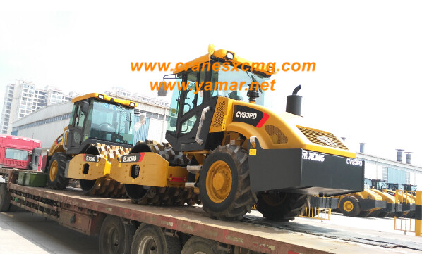 XCMG road roller CV83PD export to U.S.A.