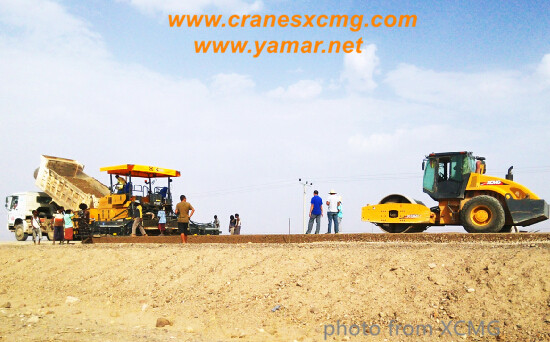 XCMG road building machinery working in Ethiopia-2