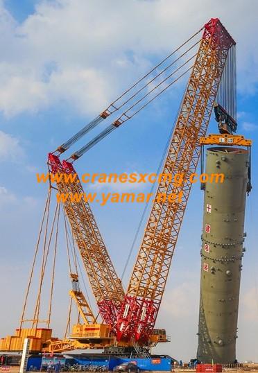 XCMG 4000 ton crawler crane at work
