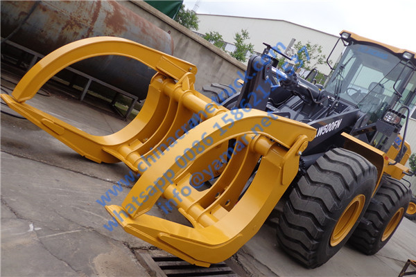 Customer order LW500FN wheel loader with wood clamp