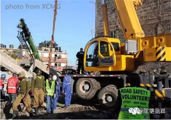 XCMG truck crane in rescue