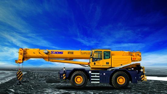 XCMG RT55E Rough terrain crane in Bauma