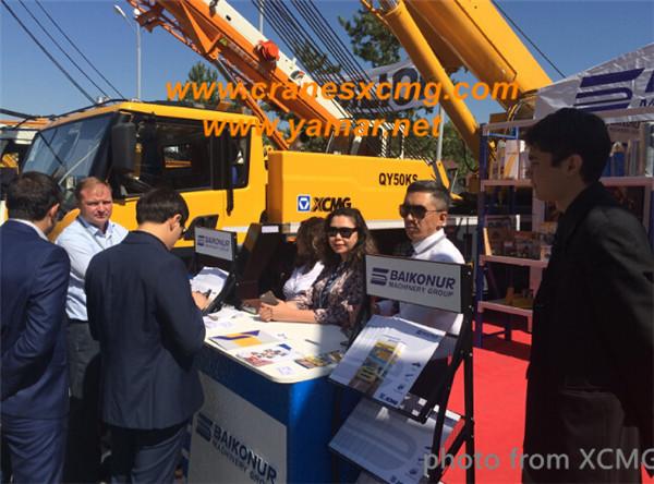 XCMG QY50KS truck crane in Kazakstan