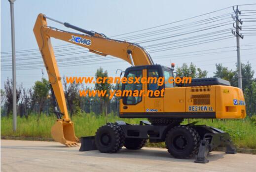 XCMG long boom wheel excavator XE210WLL