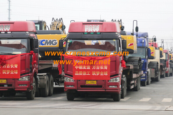 XCMG big excavators export to North Korea