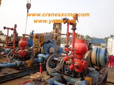 XCMG truck crane QY70K-I overturned (4)