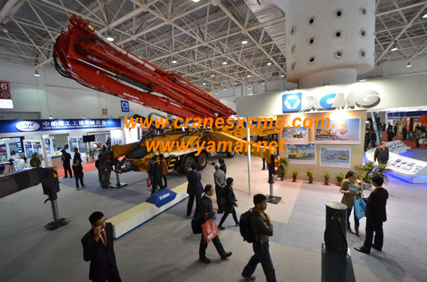 XCMG concrete pump in Beijing Construction Machinery Show