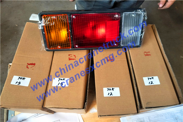 Customer order lights for his QY70K-I truck crane