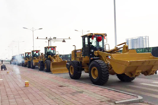 XCMG ZL50G Wheel Loader Working at Seaport