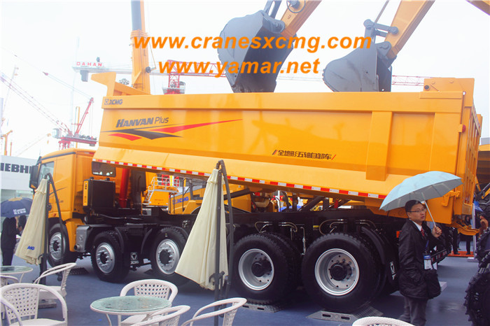Five-axle hydro-pneumatic suspension dump truck (2)