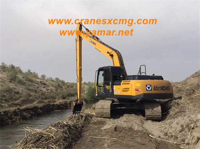 XCMG long boom excavator in Uzbekistan