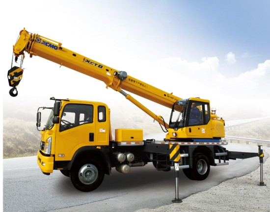XCMG 8 ton truck crane XCT8L4