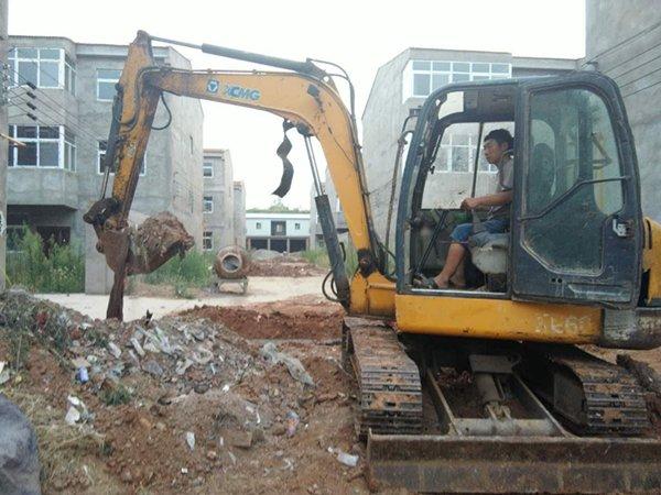 XCMG crawler excavator at work.jpg