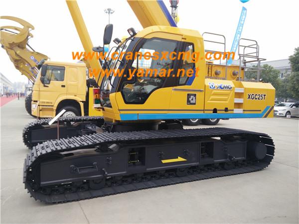 XCMG 25 ton telescopic crawler crane XGC25T (3)