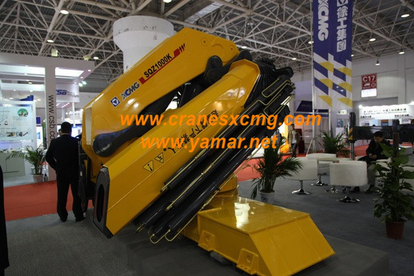 XCMG truck-mounted crane in Beijing Construction Machinery Show