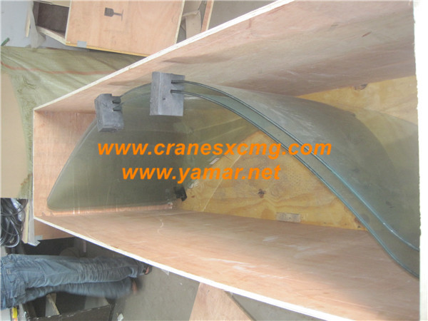 Truck crane cab glass