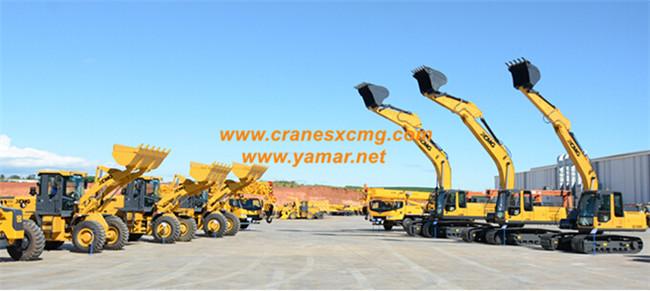 XCMG brazil truck cranes, wheel loaders, excavators, road rollers, motor graders and backhoe loaders