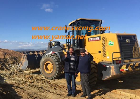 XCMG 5 ton wheel loaders working in Tunisia