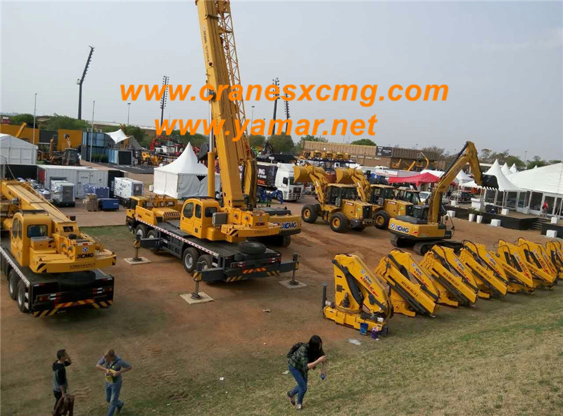 xcmg truck crane in bauma africa