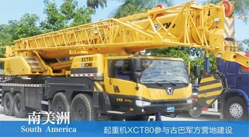 XCMG truck cranes in South America (3)