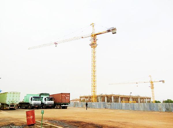 XCMG tower crane in Mali