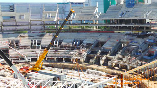XCMG machines in Brazil for Olympic buildings